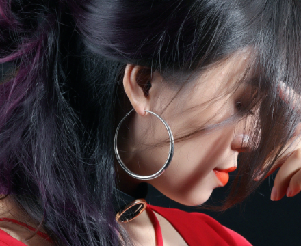 Exaggerated Round Design Hoop Earrings