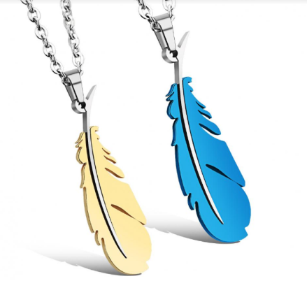 Unique Feather Design Pendant Necklaces
