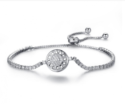 Shiny Fashion Cubic Zirconia Box Chain Bracelets Women