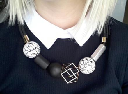 European Fashion Geometric Wood Beads Women's Choker Necklaces