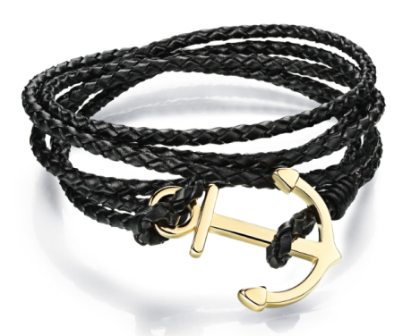 Classical Multilayer Leather Bracelets Mens With Stainless Steel
