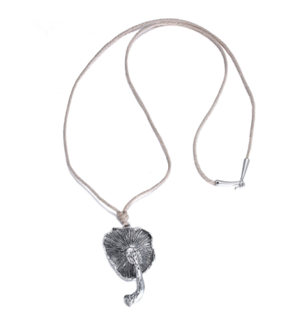 Vintage Style Ancient Silver Plated Mushroom Pendant Necklaces