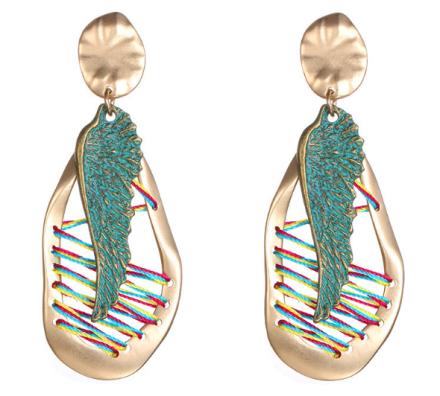 Bohemian Irregular Geometric Shape Alloy Drop Earrings Womens