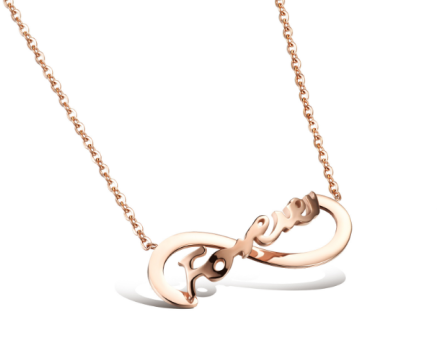 FOREVER Infinity Pendant Necklaces Womens Stainless Steel