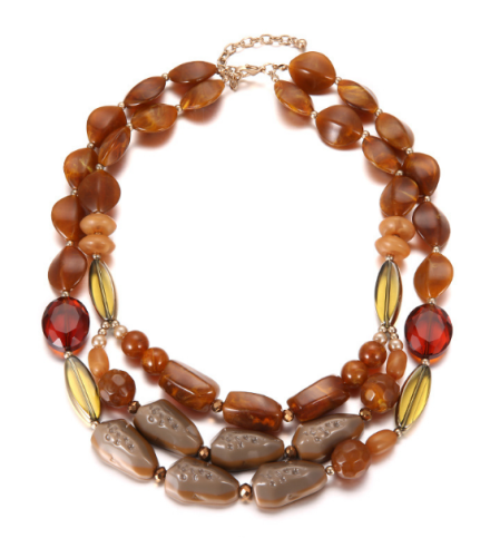 Bohemian Different Design Resin Stone Beads Choker Necklaces