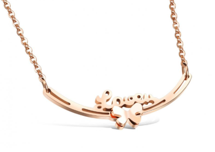 Fashion Love Bowknot Pendant Necklaces Womens Silver/Rose Gold