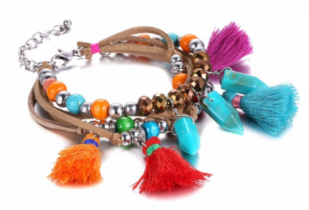 Ethnic Vintage Multilayer Colorful Beads Bracelets Womens