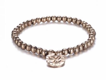 Minimalist Gold Plated Beads Strand Bracelets Womens