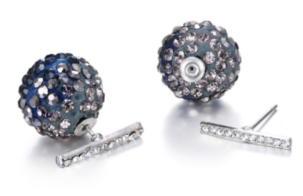 New Special Dazzling Ball Design Stud Earrings