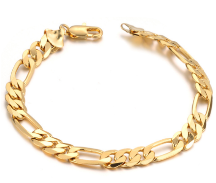 Vintage Style Gold Plated Chain Bracelets Mens