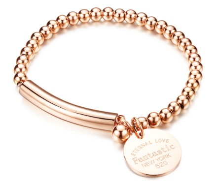Romantic Rose Gold/Silver Plated Beads Chain Bracelets